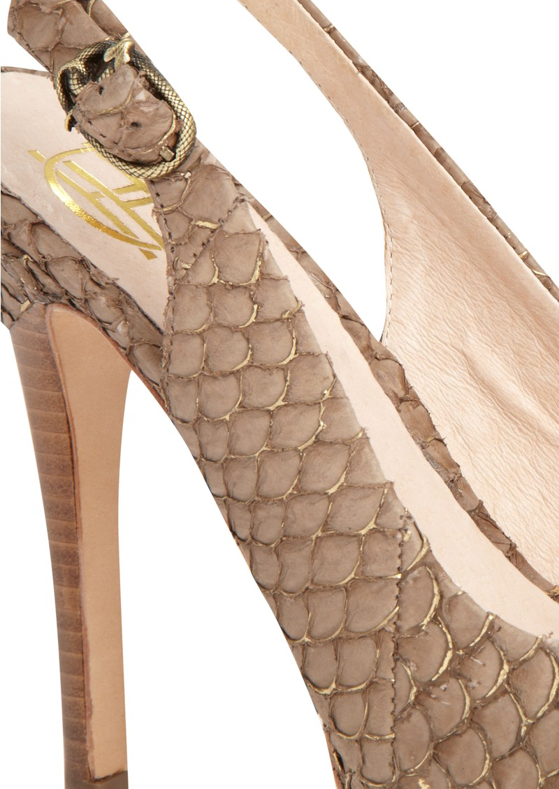 Nadya Snakeskin Shoes - Brown main image
