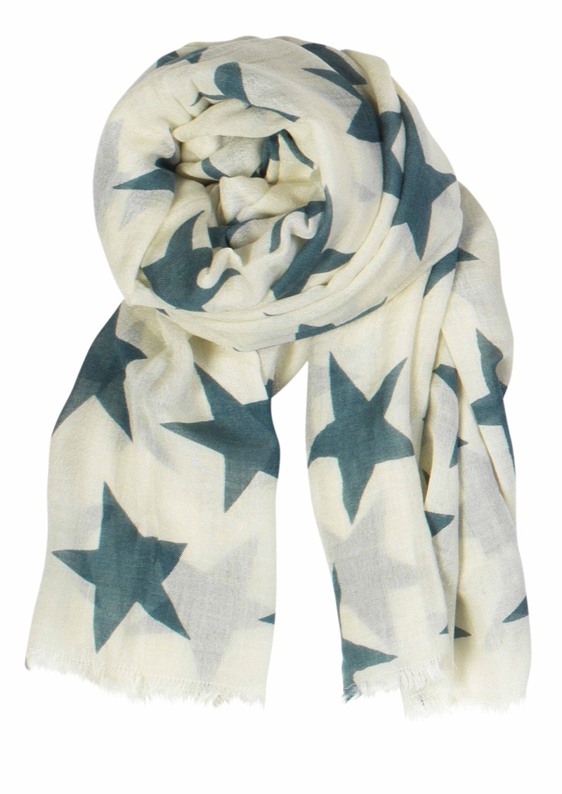 Supersize Nova Star Silk Blend Scarf - Off White main image
