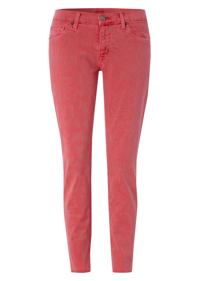 Hudson Jeans Krista Cropped Skinny Jeans - Cherry Leopard main image