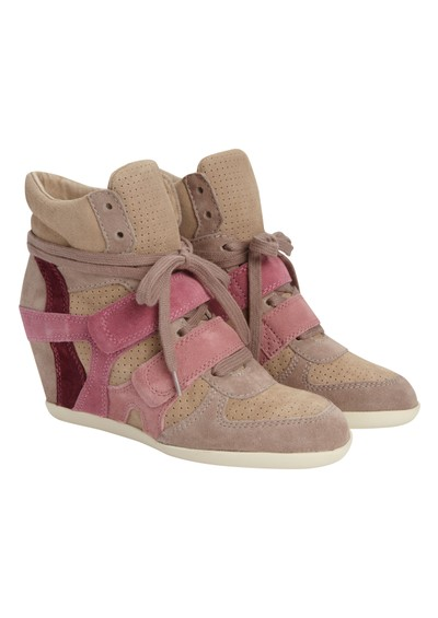 Ash Bea Wedge Trainer - Cipria main image