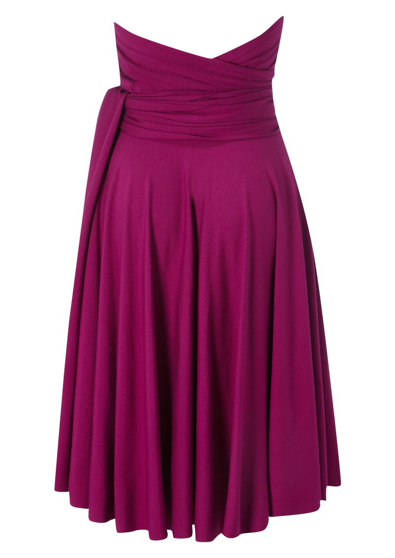 Butter By Nadia Signature Short Jersey Wrap Gown - Magenta main image