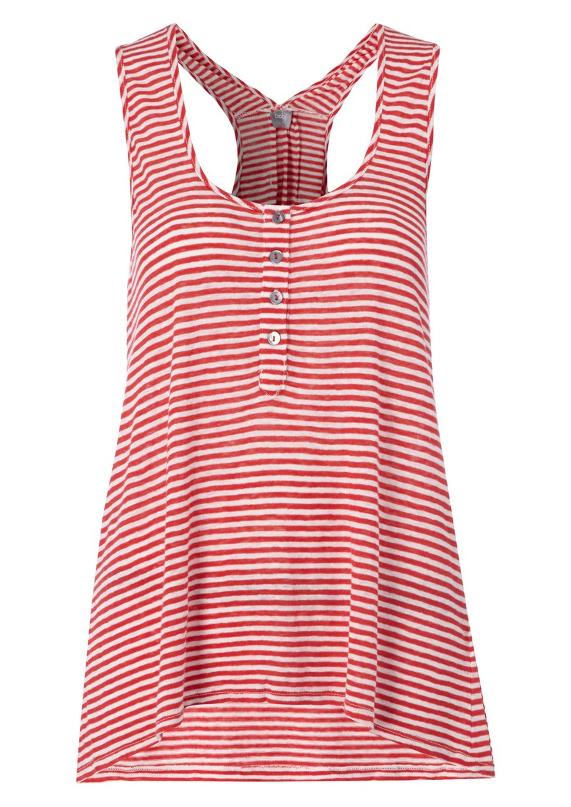 Bobi Striped Linen Tank - Cuba & White main image