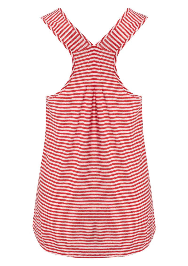 Striped Linen Tank - Cuba & White main image