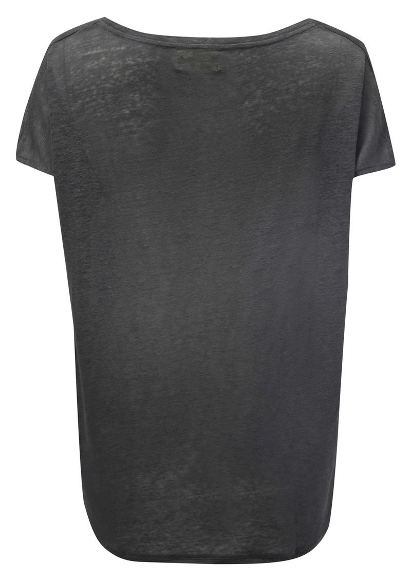 American Vintage Free Short Sleeve Linen Tee - Ashen main image
