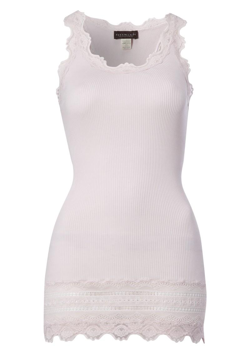 Rosemunde Wide Lace Silk Blend Vest - Rose main image