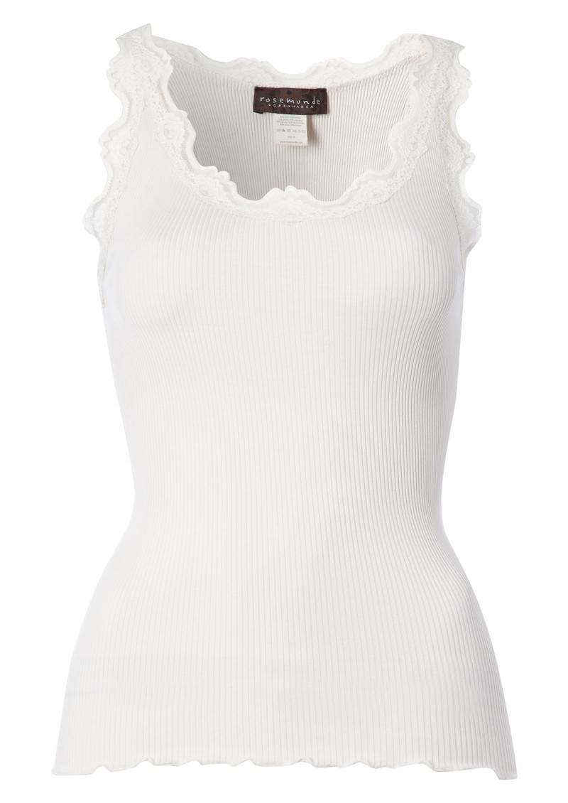 Rosemunde Silk Blend Lace Vest - Soft Powder main image