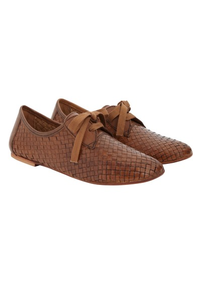 H By Hudson Totes Calf Flat Shoes - Tan main image