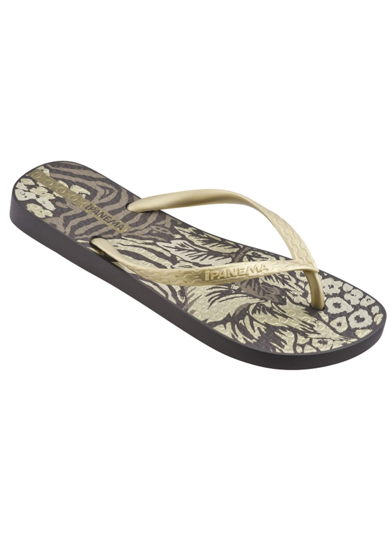 Jungle Flip Flops - Brown main image