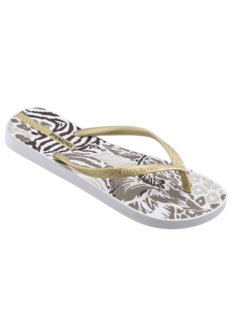 Jungle Flip Flops - White main image