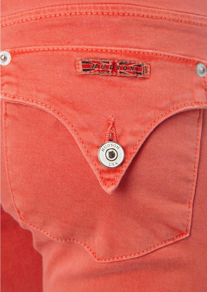 Hudson Jeans Cropped Collin Skinny Jeans - Tangerine main image