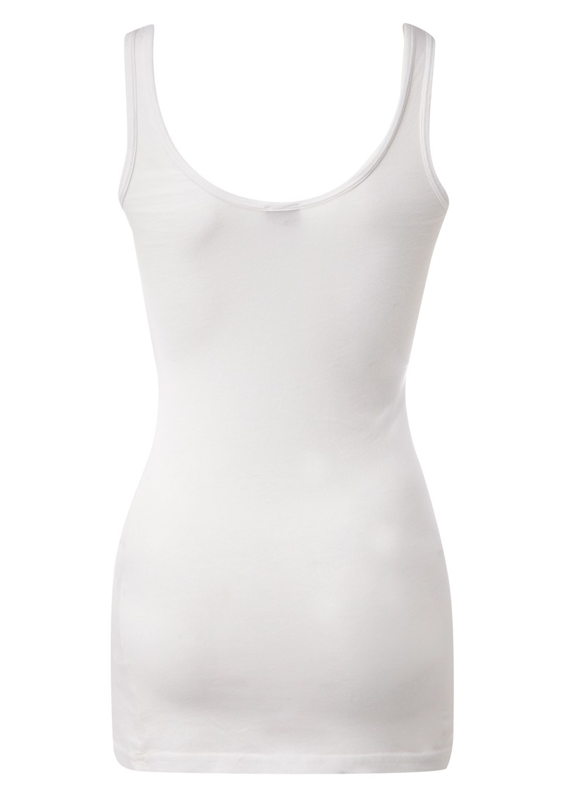 Luxury Jersey Basic Tank - White main image