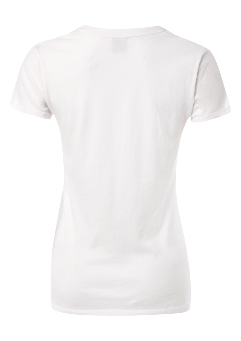 Oversized Scoop Neck Tee - White main image