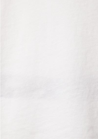 Bobi Oversized Scoop Neck Tee - White main image
