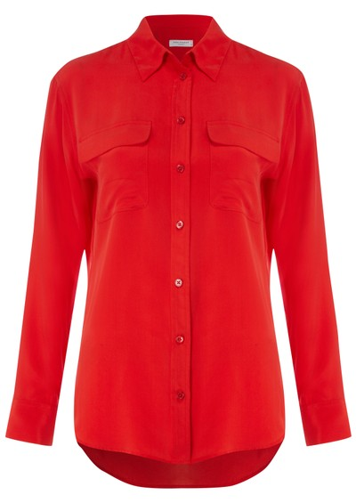 Equipment Signature Silk Shirt - Red main image