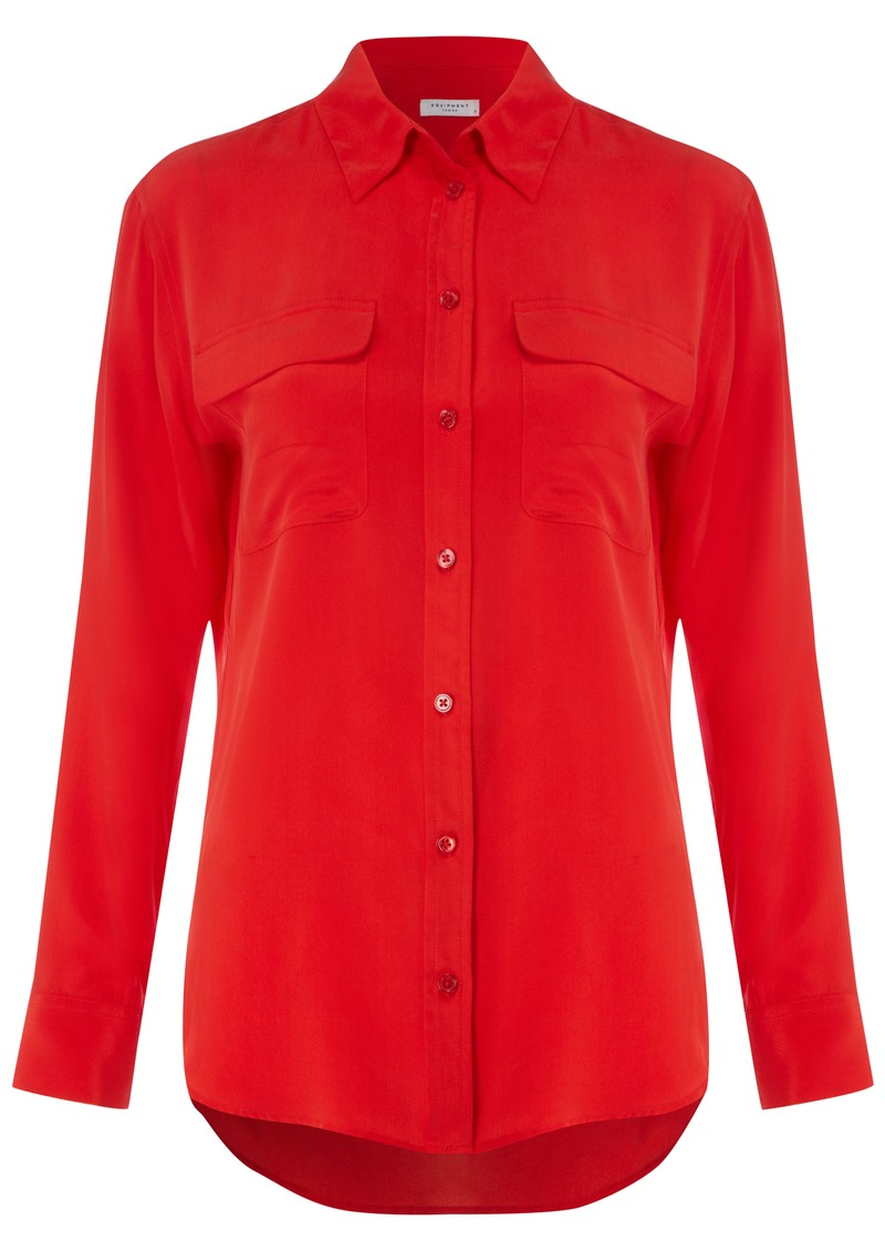 Signature Silk Shirt - Red main image