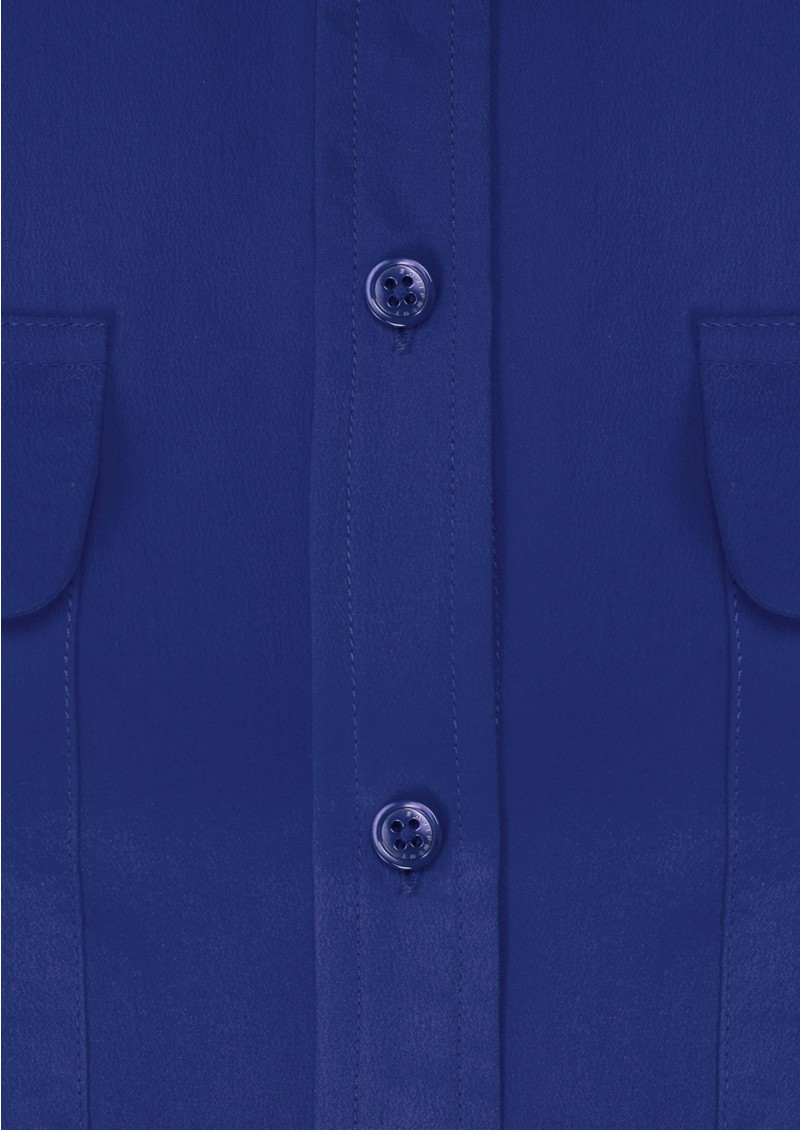 Signature Silk Shirt - Med Blue main image