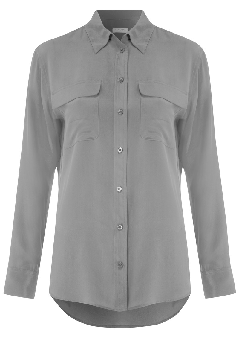Equipment Signature Silk Shirt - Steel main image