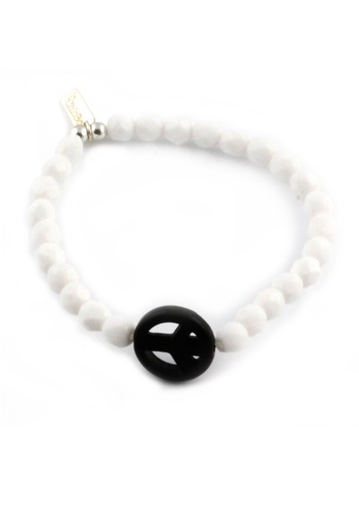 ChloBo Ice Pop Bracelet with Peace Charm - Black main image