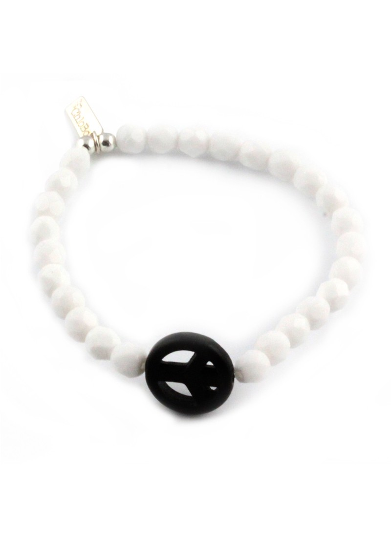 Ice Pop Bracelet with Peace Charm - Black main image