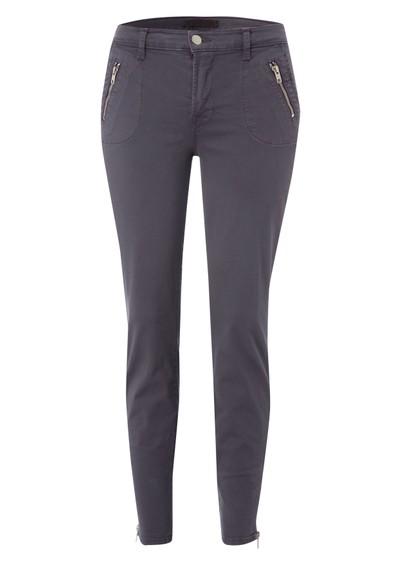 J Brand 855 Mid Rise Ginger Cropped Skinny Jeans - Vintage Plum main image