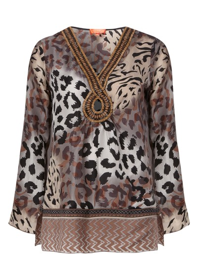 Hale Bob Silk Kaftan - Neutral  main image