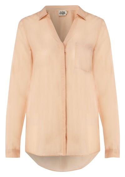 Twist and Tango Meade Silk Blend Shirt - Blush main image