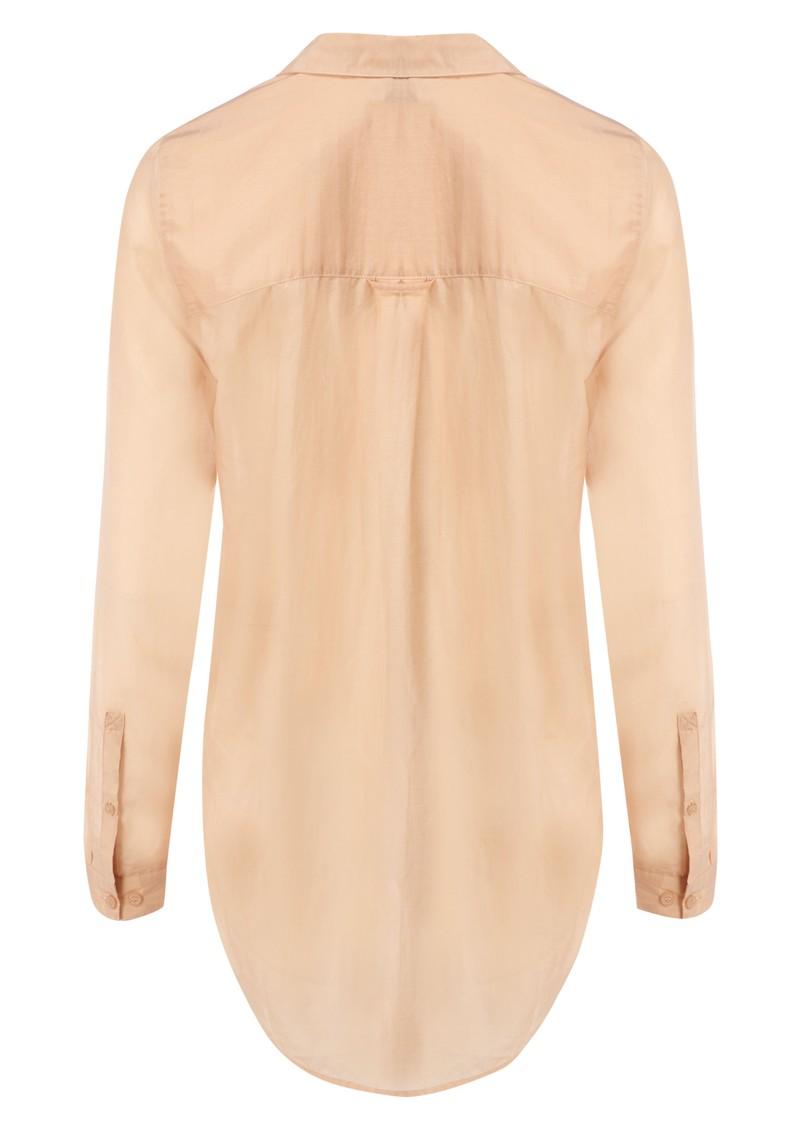 Meade Silk Blend Shirt - Blush main image