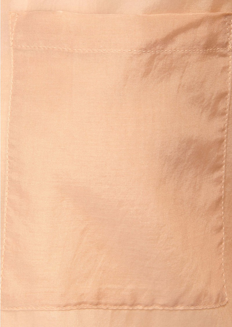 Meade Silk Blend Shirt - Blush main image