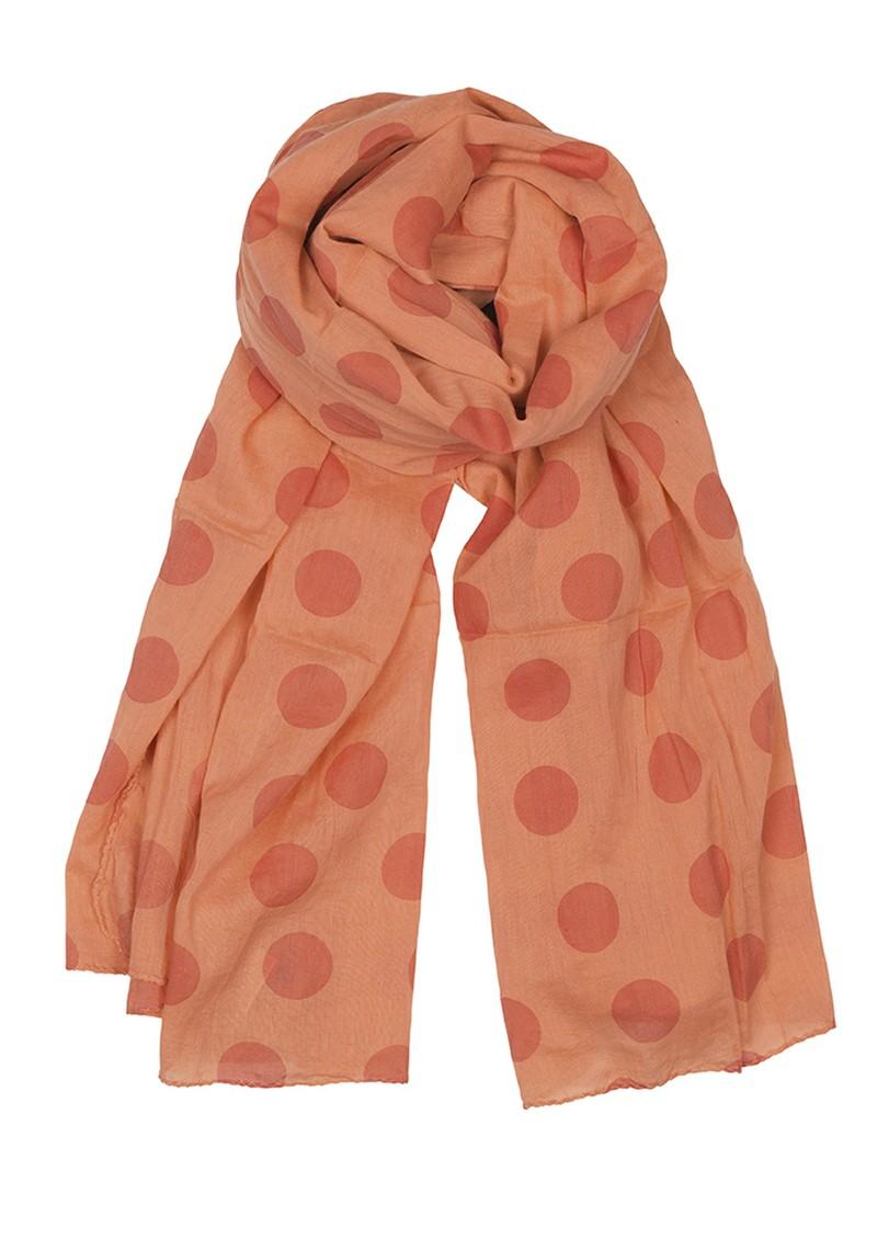 Becksondergaard Big Summer Dot's Scarf - Raspberry Rose main image