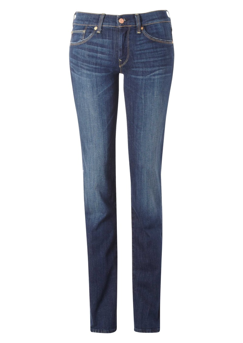 Straight Leg Jean - Warm Medium Blue main image