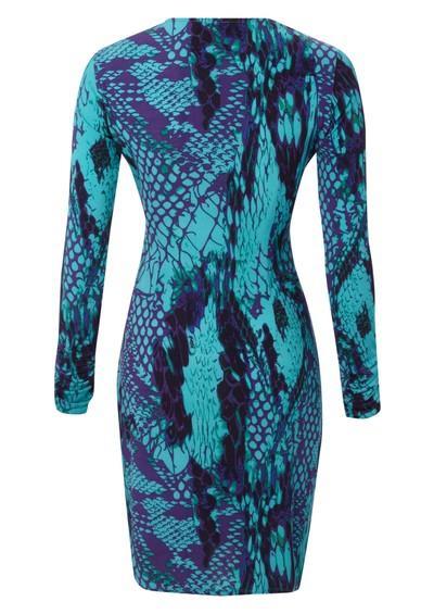 Hale Bob Wrap Dress - Teal main image