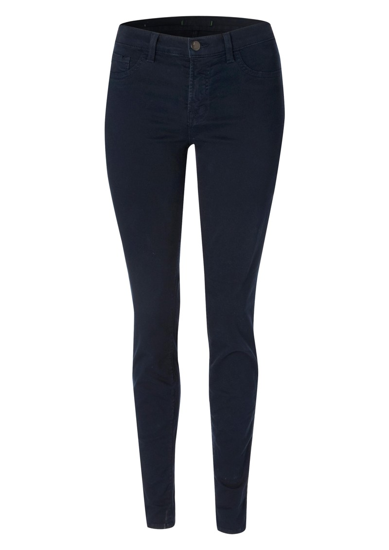 j brand mid rise skinny leg jeans in navy. Black Bedroom Furniture Sets. Home Design Ideas