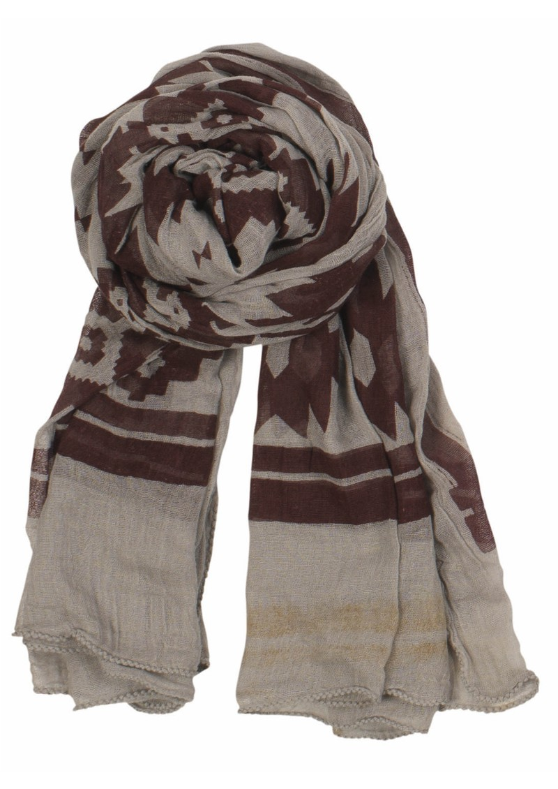X Ikat Scarf - Sand Ginger main image