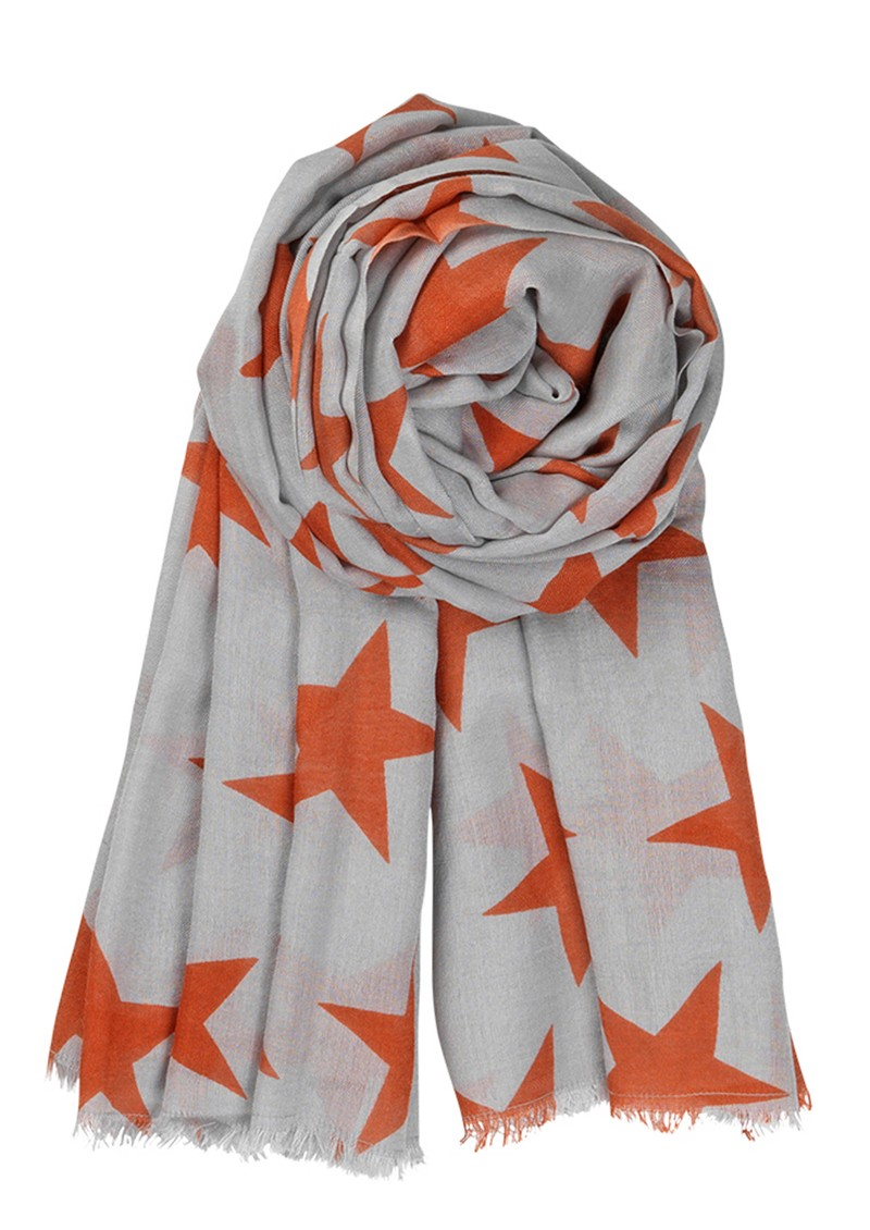 X Supersize Nova Star Silk Blend Scarf - Spicy Salsa main image