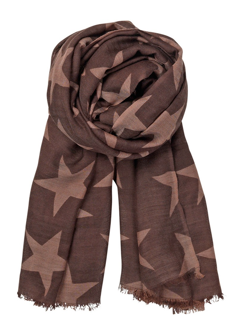 Becksondergaard X Supersize Nova Star Silk Blend Scarf - Hot Choco main image
