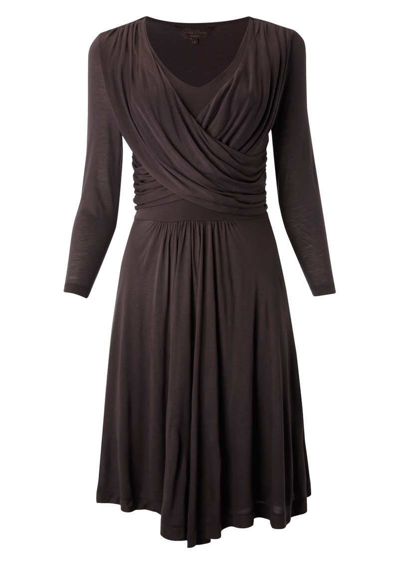 Dusty Jersey Dress - Raisin main image