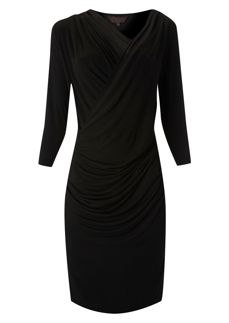Alice Drape Jersey Dress - Black main image
