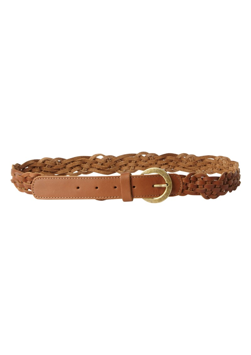Patsys Plait Leather Belt - Tan main image