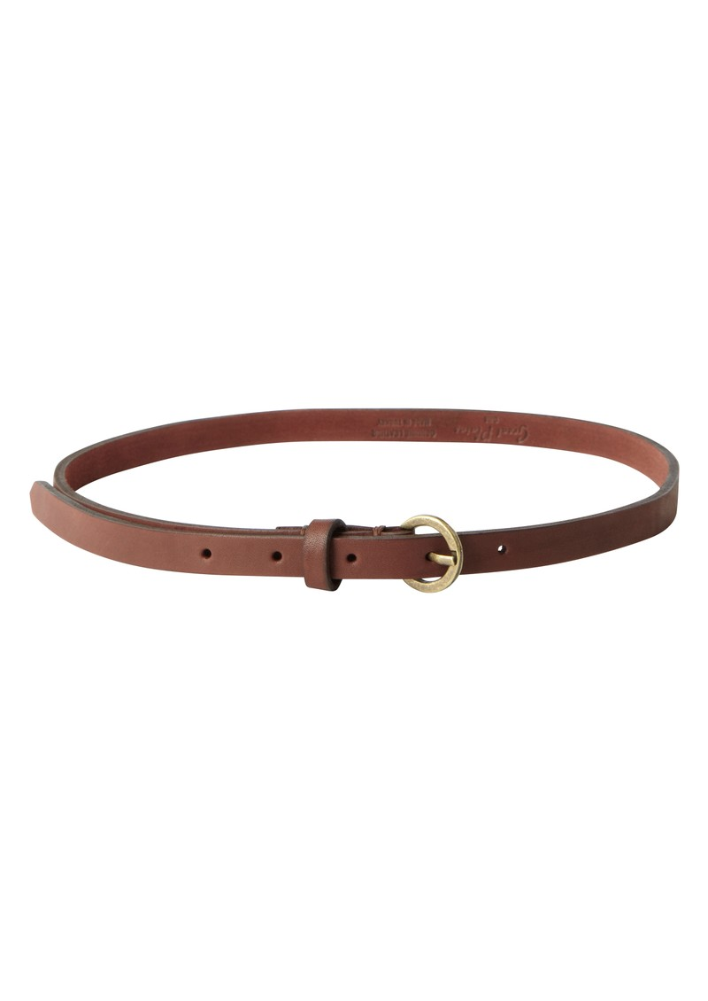 great plains oxford leather belt in chestnut