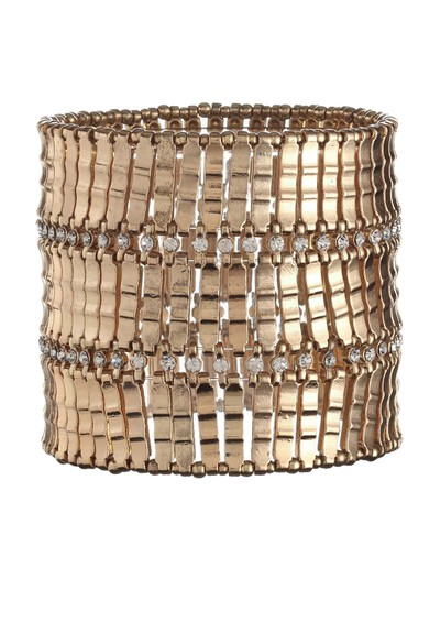 Ingenious Gold Stretch Cuff - Gold main image