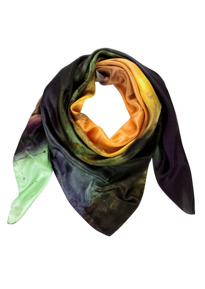 Mexican Smokey Silk Scarf - Multi main image