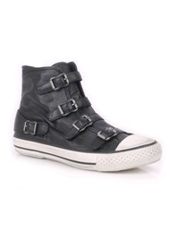 Ash Virgin Leather Buckle Trainers - Black
