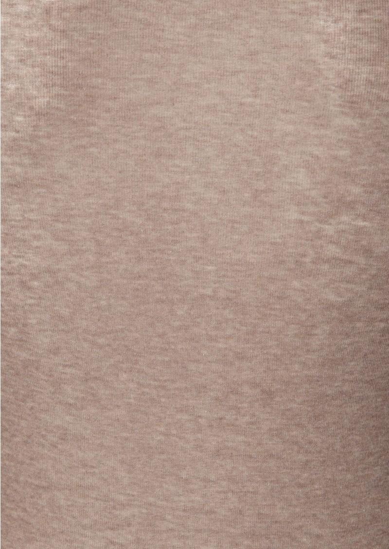 American Vintage Massachussets Long Sleeve Tee - Brown Melange main image