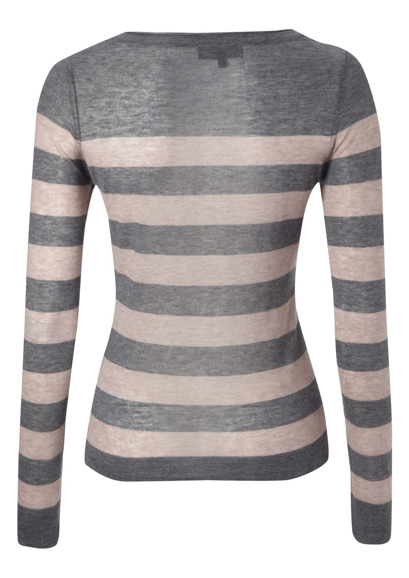Penelope Wool Blend Stripe Knit - Grey main image