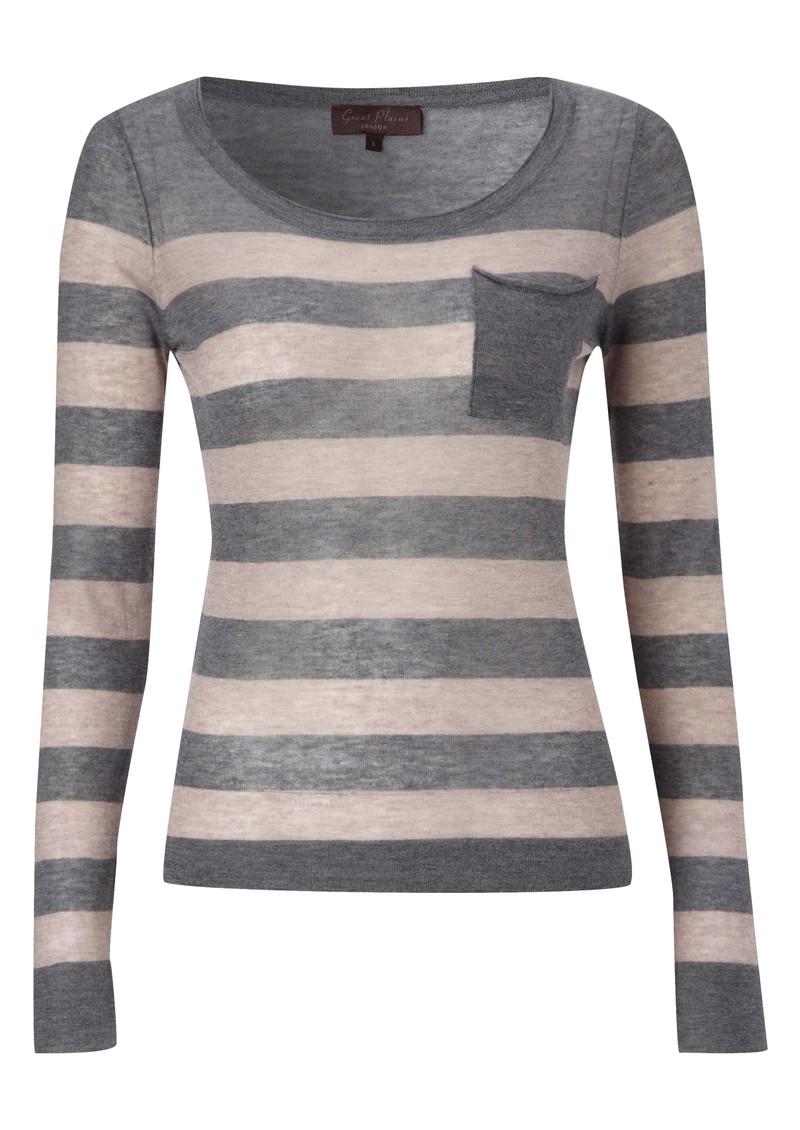 Great Plains Penelope Wool Blend Stripe Knit - Grey main image