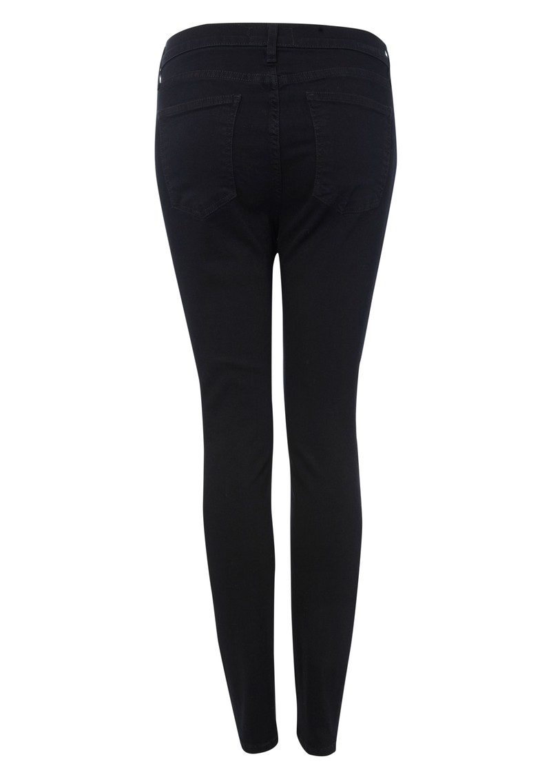 Current/Elliott High Waisted Cropped Skinny Jeans - Blue Note main image