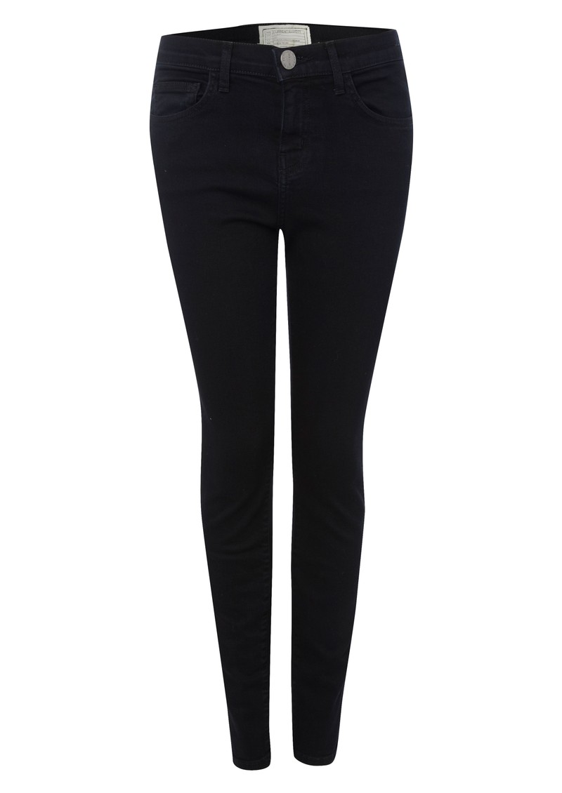 High Waisted Cropped Skinny Jeans - Blue Note main image