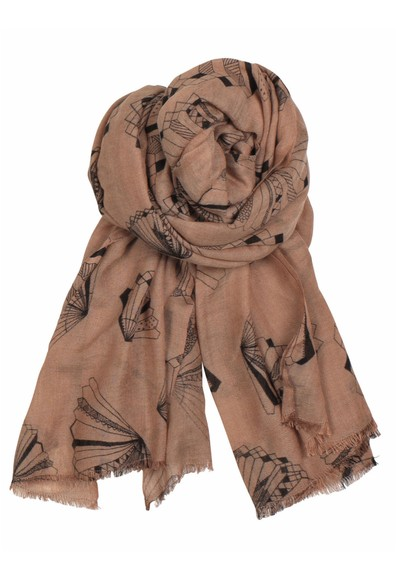 Becksondergaard X Angelo Wool & Silk Blend Scarf - Light Berry main image