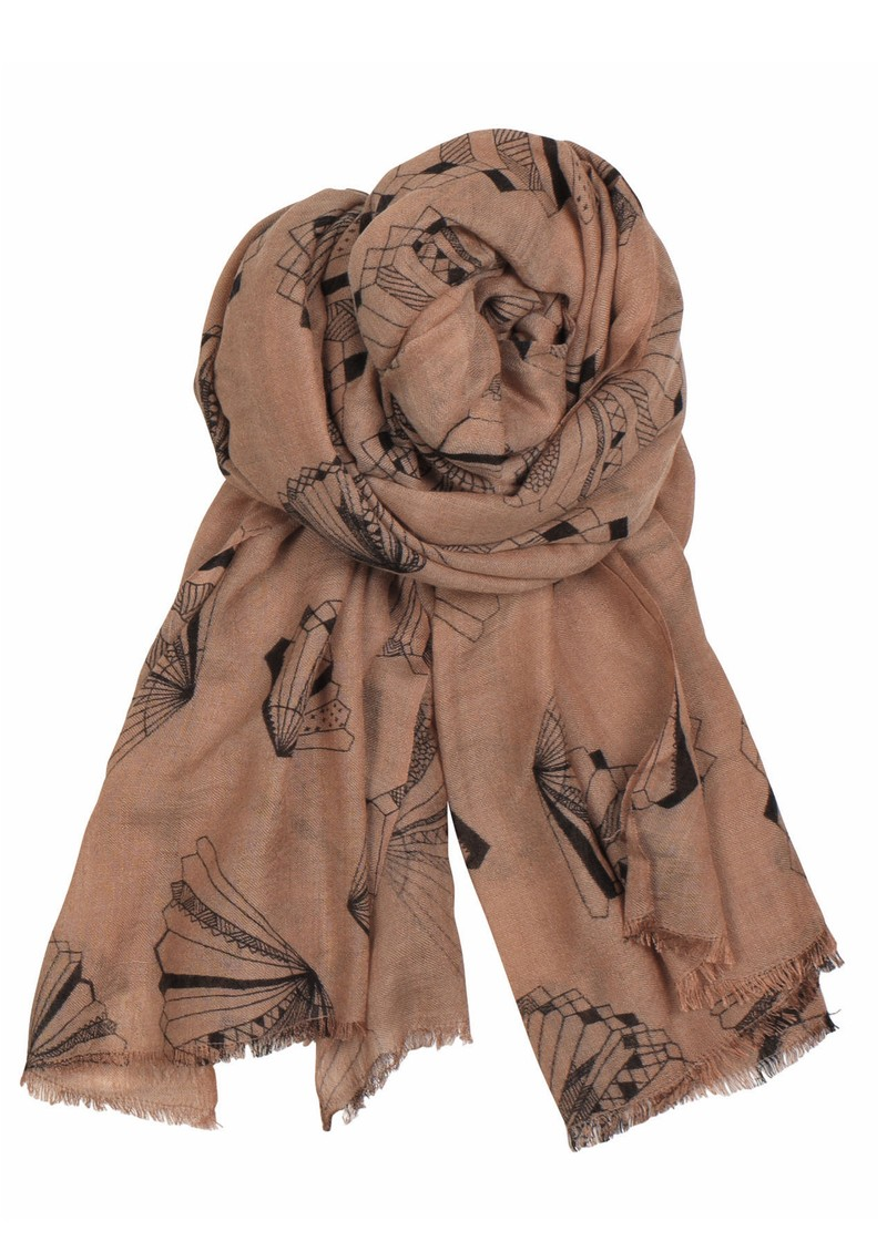 X Angelo Wool & Silk Blend Scarf - Light Berry main image
