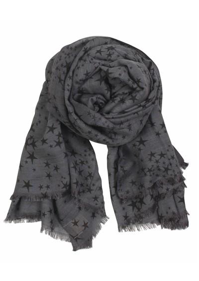 Becksondergaard X Stamped Star Wool & Silk Blend Scarf - Grey main image